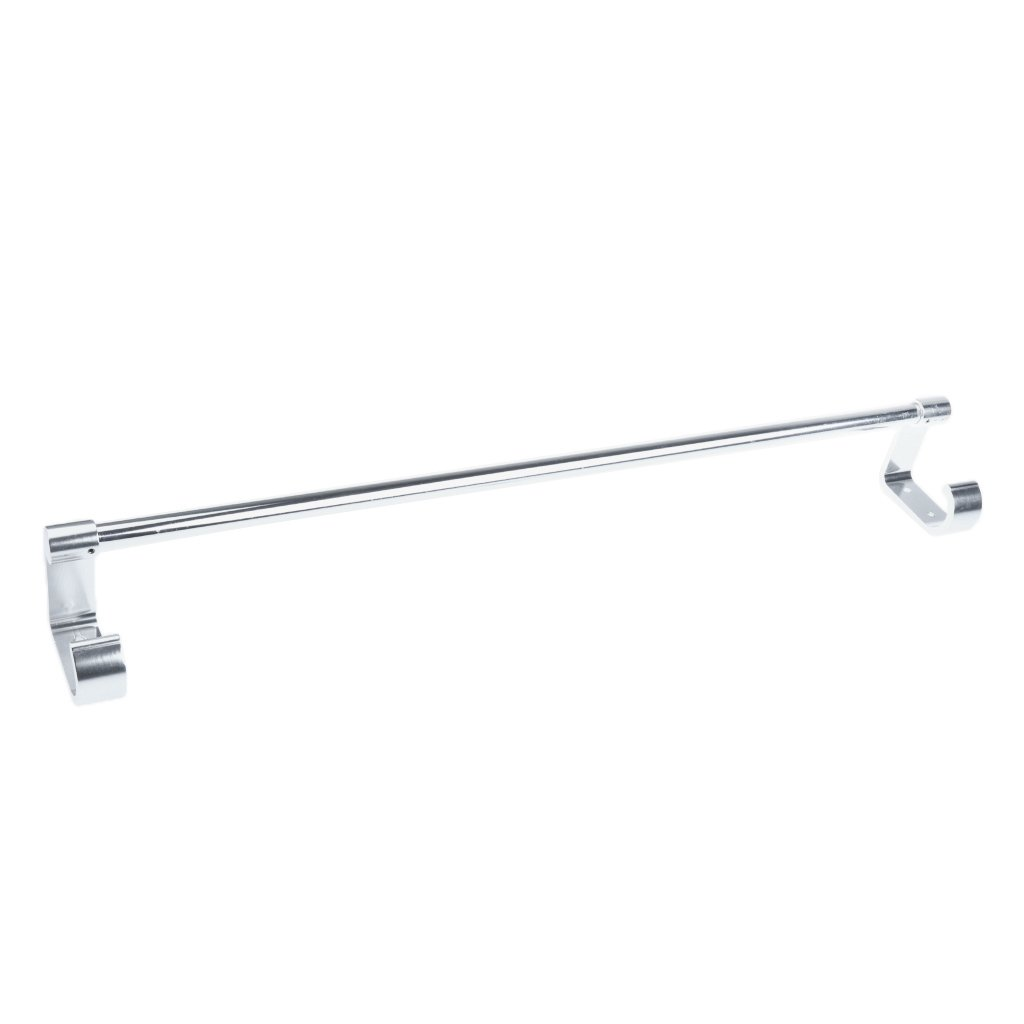 MagiDeal Aluminum Bathroom Shower Towel Rack Single Double Bar Brushed Bath Rail Wall Mounted Shelf Hanging Hanger - Silvery Double Bar, 60 x 7.5cm non-brand