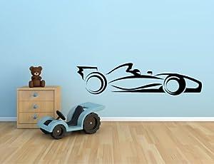"RACE CAR INDY CAR F1 RACING NASCAR VINYL WALL DECAL STICKER KIDS BOYS ROOM HOME DECOR 10""X39"""