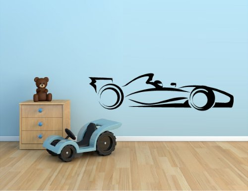 RACE-CAR-INDY-CAR-F1-RACING-NASCAR-VINYL-WALL-DECAL-STICKER-KIDS-BOYS-ROOM-HOME-DECOR-10X39