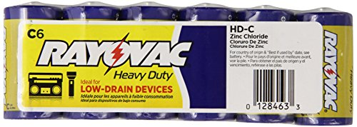Rayovac Heavy Batteries HD CD 6 Pack