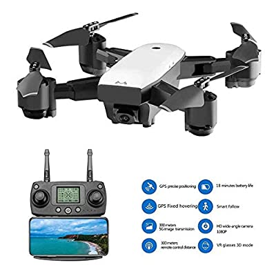 FAITHPRO S20W FPV RC Mini Drone Kit with HD 1080P Camera VR Glass Live Video, 120 Degree Wide Angle 2.4G WiFi Dynamic Follow, Support APP and Voice Control Best Quadrocopter for Beginners/Kids/Adults by FAITHPRO