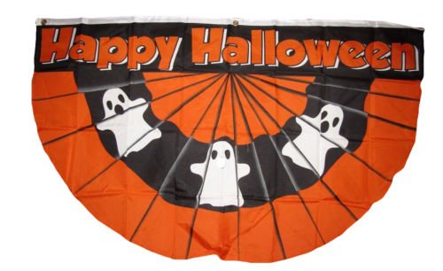 Moon Knives Wholesale Lot 10 Pack 3x5 Happy Halloween Ghosts Ghost Bunting Fan Flag 3x5 - Party Decorations Supplies For Parades - Prime Outside, Garden, Men Cave Decor Flag -