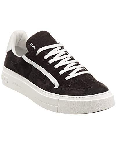 Salvatore Ferragamo Gancini Suede Sneaker, 8.5 M, Grey