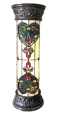 2-Light Pedestal Glass Light Fixture