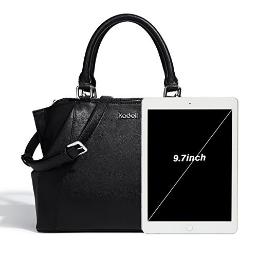 Medium Bags Ladies Black Long Soft Womens With Bag Hnadbag Strap Leather Shoulder Kadell Size Tote v0pxw