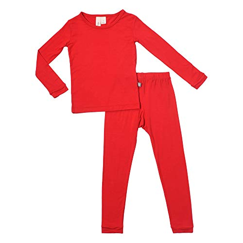 jama Set - Pjs for Toddlers Made of Soft Organic Bamboo Rayon Material (Crimson, 2T) ()