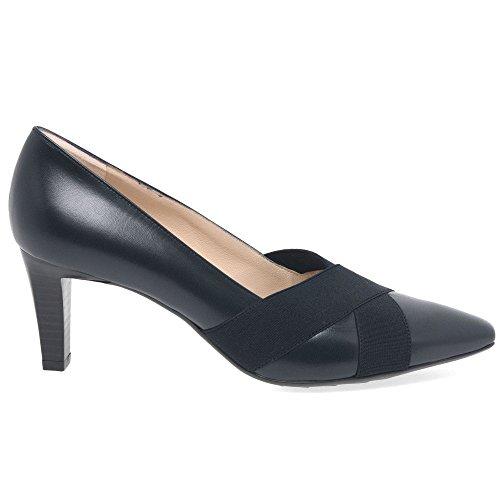 Cerrados Zapatos Navy Tacón de Peter Kaiser de Cuero Malana Mujer OPfxHqX