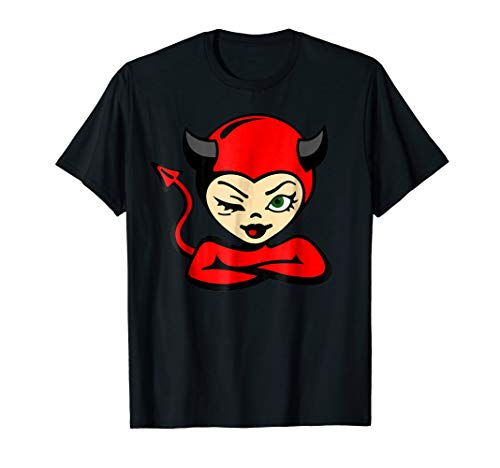 She Devil Halloween T-Shirt Cute Sexy Cartoon Gift Tee ()
