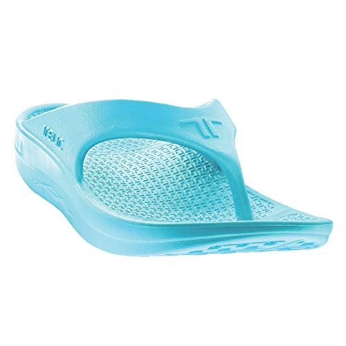Flip Flop Soft Sandal Shoe Footwear by Telic, Aqua Lgoon, S