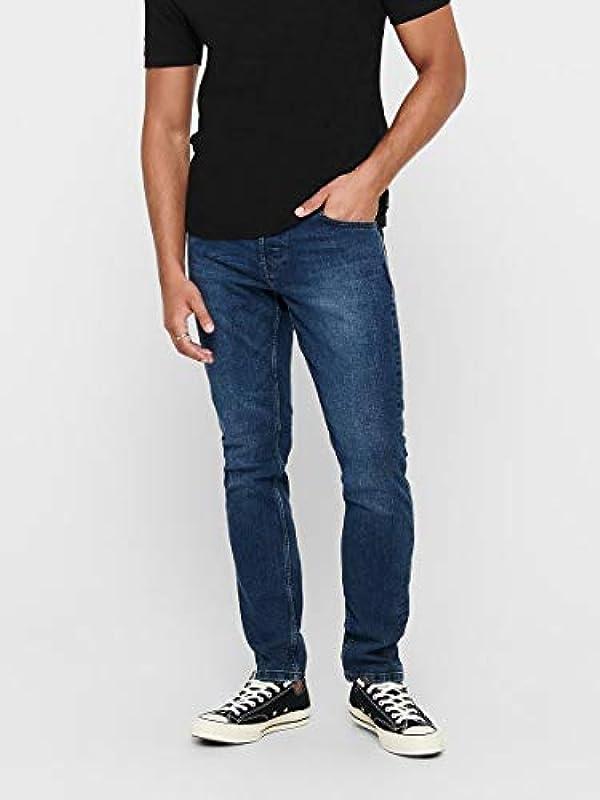 ONLY & SONS jeansy męskie Slim Fit ONSLoom Blue: Odzież