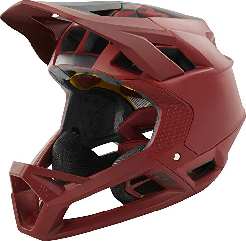 Fox Proframe Full Face MTB Bike Helmet (Matte Cardinal, XLarge)