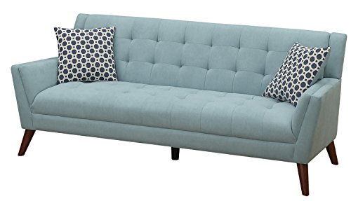 Furniture World Mid Century Sofa, Turquoise