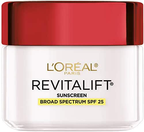 Face Moisturizer with SPF 25 by L'Oréal Paris Skin Care I Revitalift Anti-Aging Day Cream with SPF 25 Sunscreen and Pro-Retinol I 2.55 oz