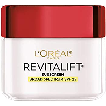 Face Moisturizer With Spf 25 By L'oréal Paris Skin Care I Revitalift Anti-Aging Day Cream With Spf 25 Sunscreen & Pro-retinol I 2.55 Oz