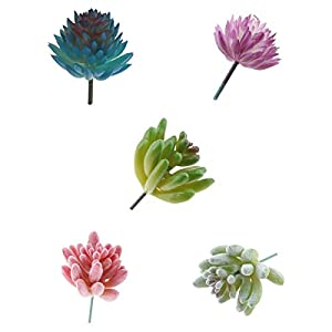 Homyl Assorted Type of Artificial Succulent Plant Fake Flower for Home Office Garden Decor Wedding Venue Decoration 104