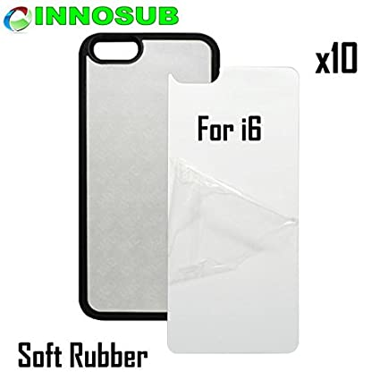 graphic regarding Iphone 6 Printable Case named 10 x Apple apple iphone 6-Rubber-black - blank dye scenario + inserts for dye Sublimation mobile phone address / blank Printable situation, Built as a result of INNOSUB United states of america