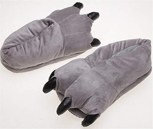D'ours Pantoufles Chaussures Maison Lhxyx Gray Hiver Pattes Antidérapantes FPpwF8nYW