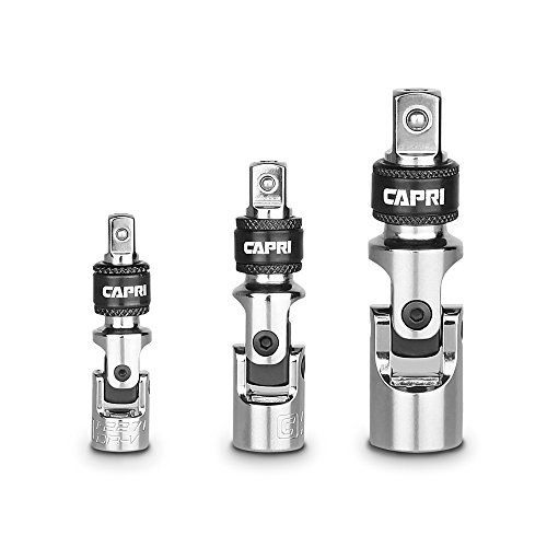 Capri Tools Locking Universal Joint Set, 3-Piece