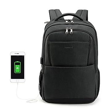 Mochila Tigernu, antirrobo con cargador USB bolso mochila para laptop de 15.6 pulgadas bolso escolar: Amazon.es: Equipaje