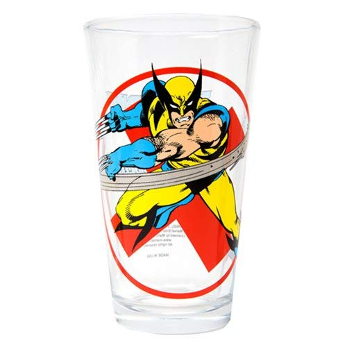 Wolverine Classic Collection 'Toon Tumbler 16 oz Pint Glass Marvel Comics