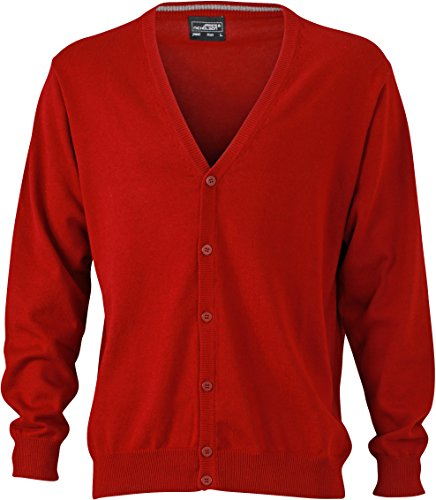 Men's Cardigan Bordeaux Men's Cardigan with V V Neck Neck Uxxawptq