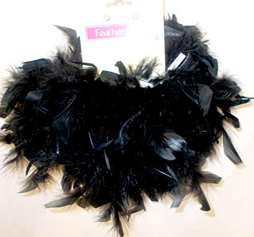 Seasons Black Feather Feathers Boa Costume 5ft NIP ()