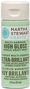 Martha Stewart Crafts Multi-Surface High Gloss Acrylic Craft Paint (2 Ounce), 32085 Pea Shoot
