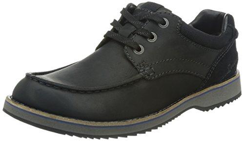 Clarks Mahale Edge Herren Brogue Schnürhalbschuhe Schwarz (Black Leather)