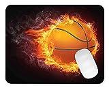 Timing&weng Burning Basketball Mouse pad Gaming Mouse pad Mousepad Nonslip Rubber Backing