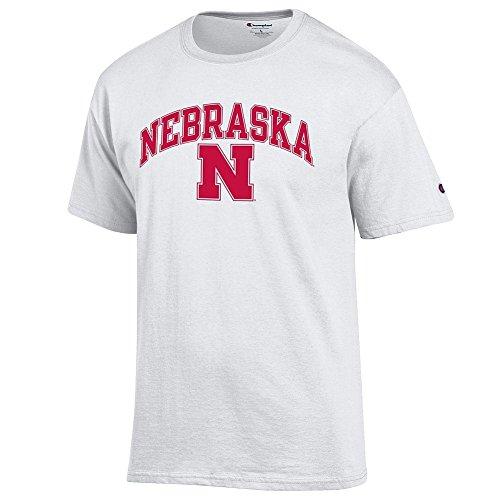 Nebraska Cornhuskers TShirt Varsity White - L (Nebraska Fan)