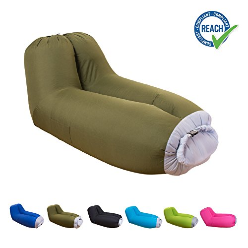 Chaise longue gonflable Canapé Coussin Canapé avec dossier intégré on chaise furniture, chaise sofa sleeper, chaise recliner chair,