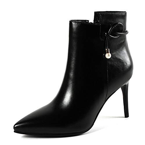 HAOLIEQUAN Chaussures Femmes Talon Haut Fines Bottines Femmes Chaussures Fermeture Éclair Plate-Forme Chaussures Chaussures Femmes Femmes Noir Élégant Taille 34-43 43 Black 9966cd
