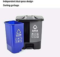 Contenedor de Reciclaje Doble Papelera de Reciclaje Compartimiento Doble Bote de Basura Oficina/Exterior Jardín de la Basura de plástico Puede, de 30 litros / 7.9 galones Basurero Cubo de Cocina: Amazon.es: Hogar