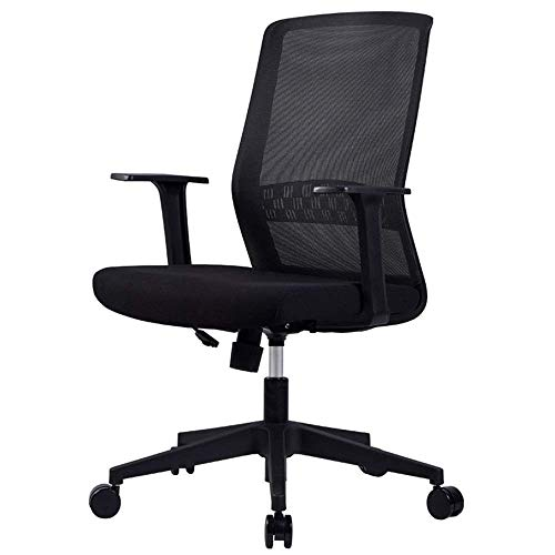 ZBHW Chair in Black - Reception Desk Chair - Tall Office Chair for Adjustable Standing Desks - Drafting Table Chair