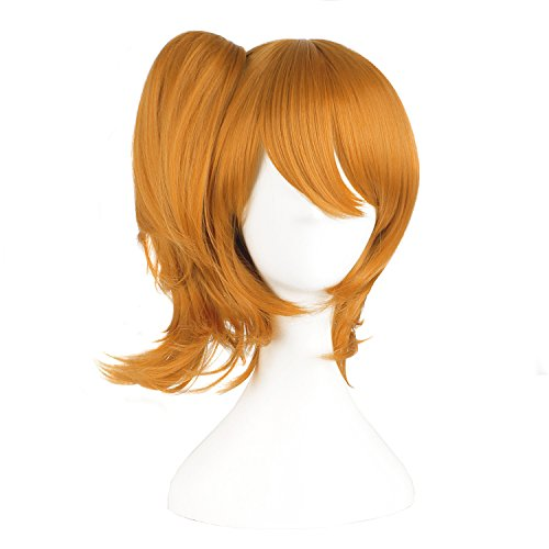 MapofBeauty Golden Orange Can Be Equipped With Hair Ornaments Cosplay Wigs