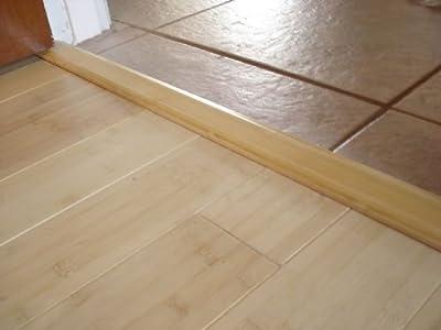 Prefinished Bamboo Threshold Molding Trim 6' Length - Horizontal, Natural