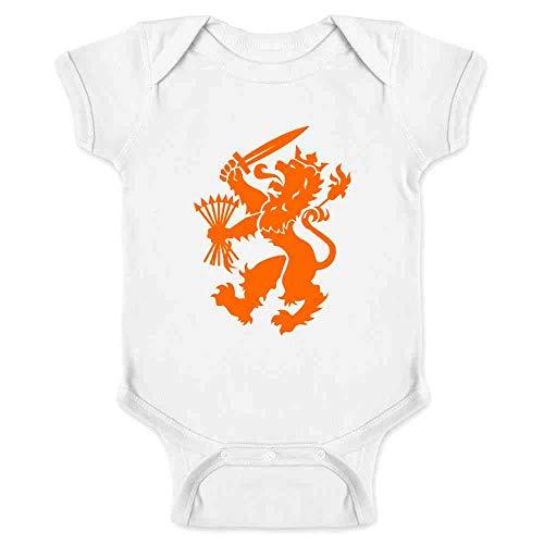 (Holland Soccer Dutch Lion National Team Crest White 12M Infant Bodysuit)