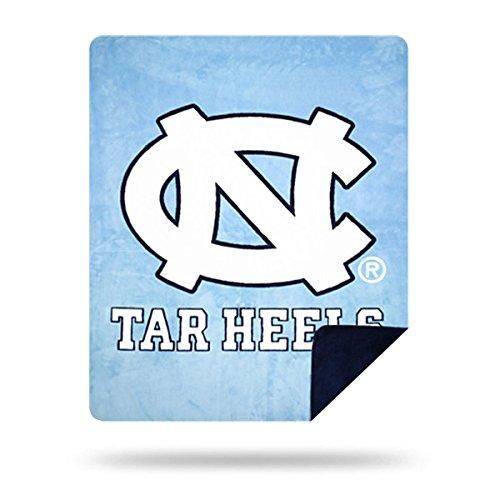 Officially Licensed NCAA North Carolina Tar Heels Denali Silver Knit Throw Blanket, Light Blue, 60
