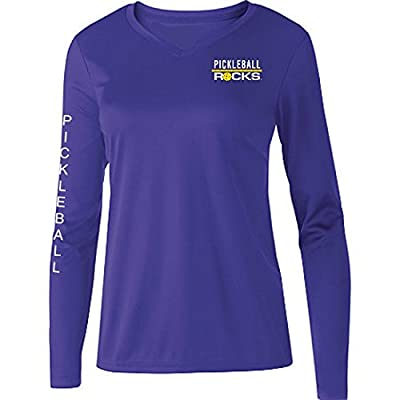 Pickleball Purple Ladies Dri Fit Long Sleeve Shirt
