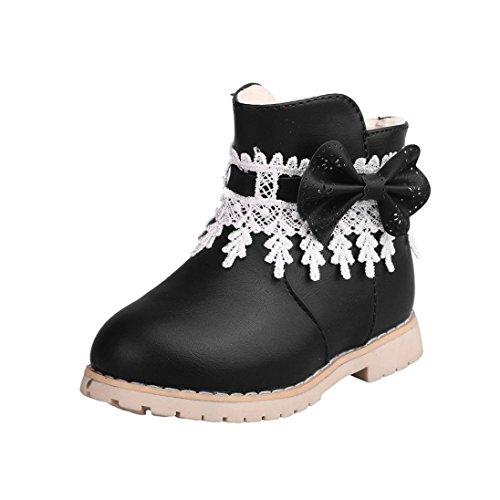 Hunpta Kinder Warm Jungen Mädchen Schneeflocke Martin Sneaker Stiefel Kinder Baby Freizeitschuhe Schwarz