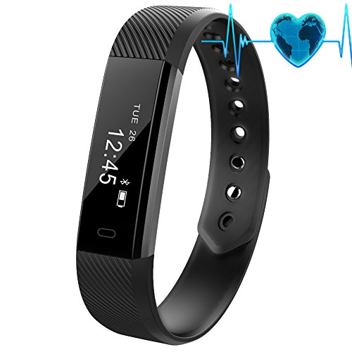 Fitness Tracker with Heart Rate Monitor,Waterproof Fitness Watch Wireless Bluetooth Activity Tracker Smart Band for Android and iOS