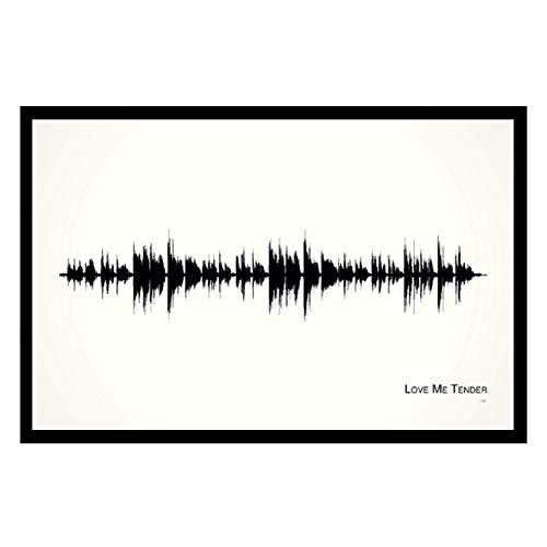 (Love Me Tender - 11x17 Framed Soundwave print)