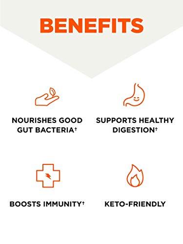 InnerFuel Prebiotic Fiber Powder, Unflavored, 13.4 Oz, Bulletproof Keto Plant-Based Dietary Fiber Supplement for Super…