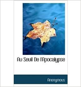 Book Au Seuil de L'Apocalypse (Hardback)(French) - Common