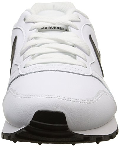 Nike Md Runner 2 Leather - Zapatillas para hombre White/Black