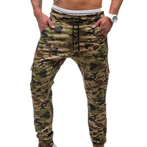 Primavera Tinta Casual Unita Uomo Mimetici Sportive Tasche Pantaloni Jogging Armee Da Moda Grün Con Sportivi Autunno q8wgY4E0