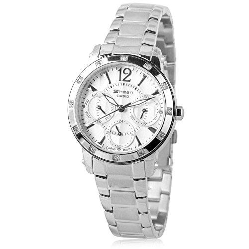Casio Women's SHN3012D-7A Sheen Silver Watch