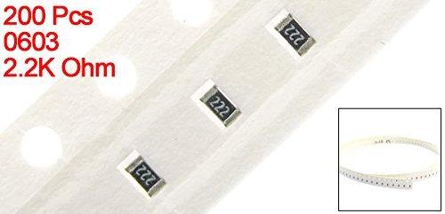 DealMux a14042500ux0600 200 Piece Automation 0603 2.2K Ohm Surface Mount SMD Chip Fixed Resistors