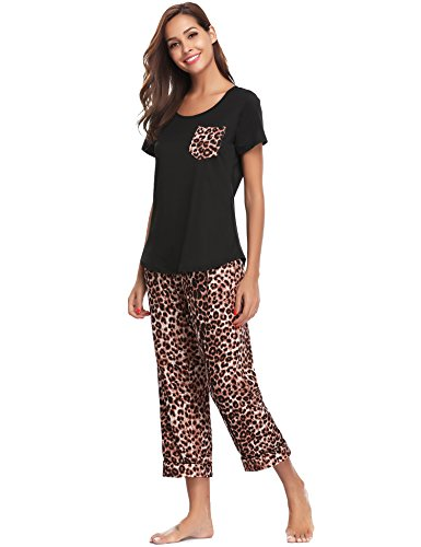 Pyjama Doux Femme Ensemble Pyjashort Aibrou Haut Coton Noir De En Gamme 7zZqzwE