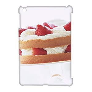 3D Doah Cake IPad Mini Case Shock Absorbent Strawberry Cake, Apple Ipad Mini Case Luxury [White]